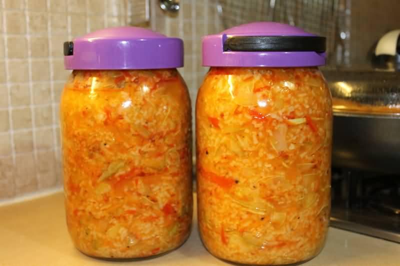 Салат из баклажан с рисом на зиму рецепты